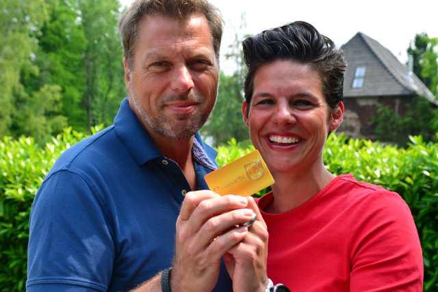 Wirtschaftsförder Gerd Abelt und Sabrina Greiwe Schermbeck