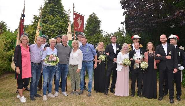 Trhongemeinschaft Kilian Altschermbeck mit König Bernd Becker