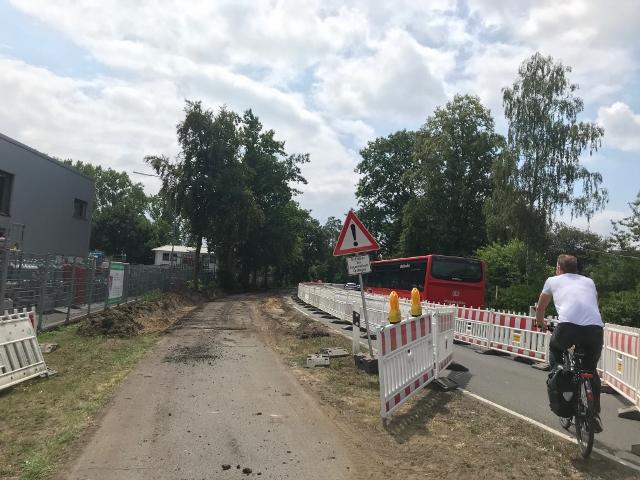 Radwegsanierung Schermbeck Kanalbrücke (
