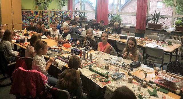 Basteln und gestalten Projektwoche Gesamtschule