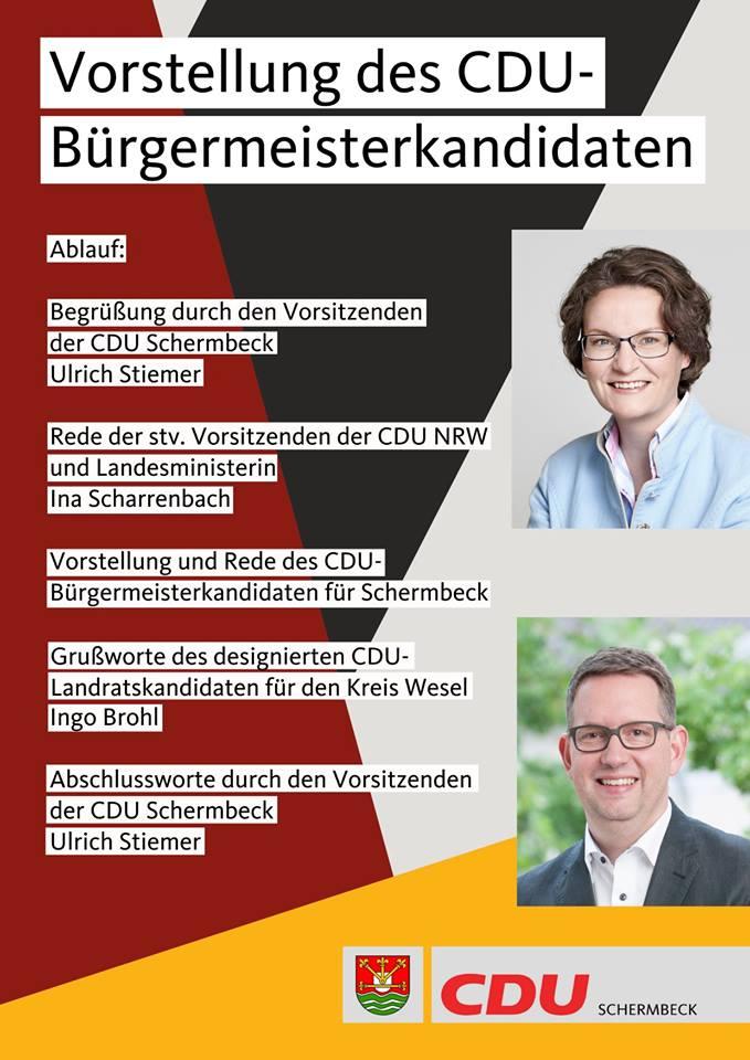 Bürgermeister Kandidat Schermbeck 2020