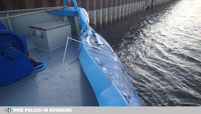 Schiffunfall Rhein Wesel