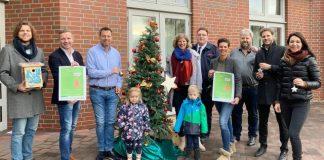 Weihnachtsbaum schmücken Schermbeck Rathaus 2019