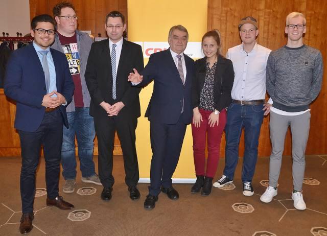 Junge Union Schermbeck mit Minister Reul