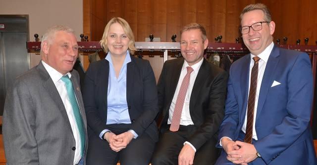 Rainer Gardemann, Charlotte Quik Mike Rexforth und Ingo Brohl