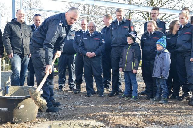 Grundsteinlegung Feuerwehrhalle Gahlen