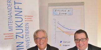 Volksbank Schermbeck Rainer Schwarz und Norbert Scholtholt