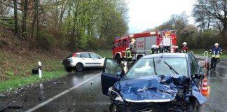 Unfall auf B58 Schermbeck