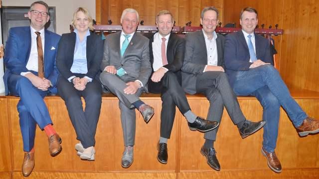 CDU Schermbeck Ingo Brohl, Charlotte Quik, Rainer Gardemann, Mike Rexforth, Andreas Grotendorst und Tobias Stockhoff