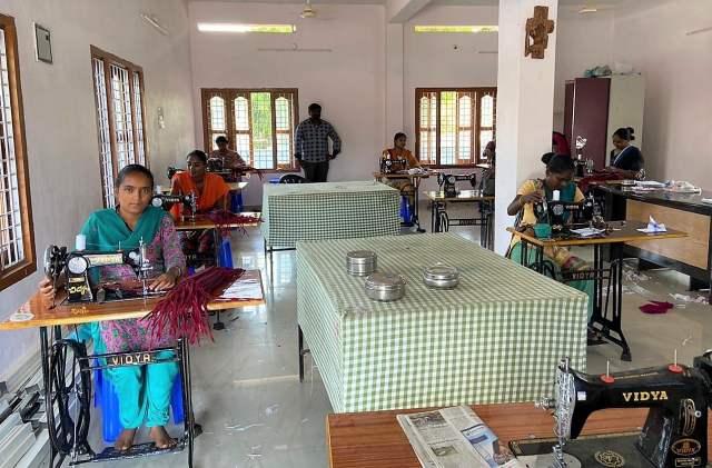 Coronakrise Indien Nähzentrum St. Ludgerus Ponugodu (2)