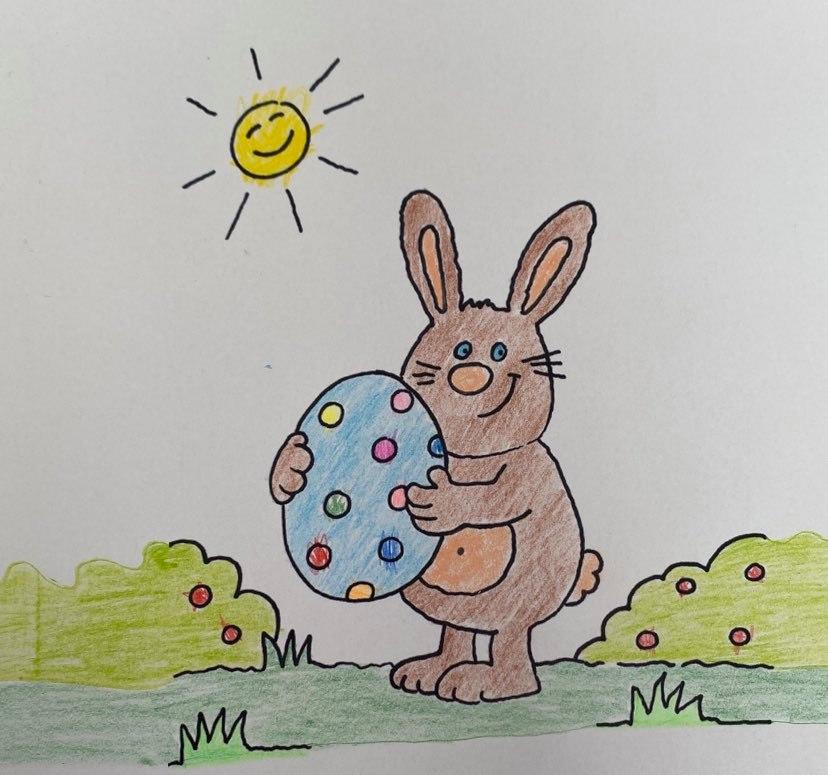 Coronakrise Kinderbild zu Ostern von Charlotte Quik MdL