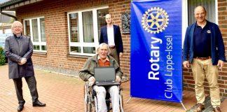 Rotary Lippe Issel spendet Laptop corona