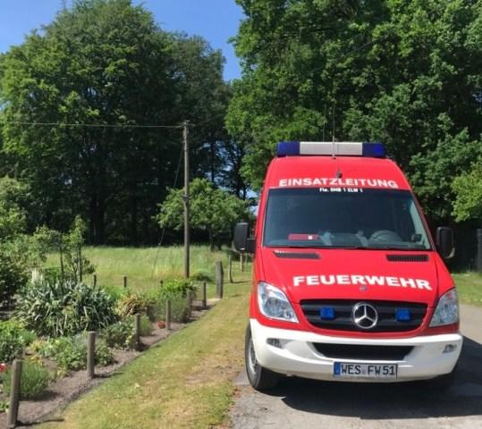 Der ELW der Feuerwehr Schermbeck unterstützte das Ordnungsamt Schermbeck.