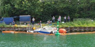 Yacht aus Wesel-Datteln-Kanal geborgen