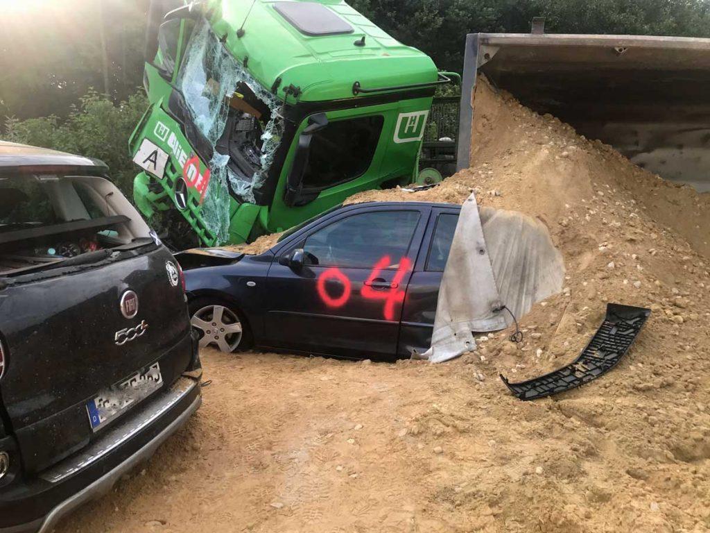 Schwerer Unfall A31 zwischen Gladbeck und Dorsten