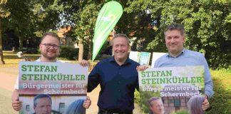 Lucas Vohr, Dr. Stefan Steinkühler und Holger Schoel