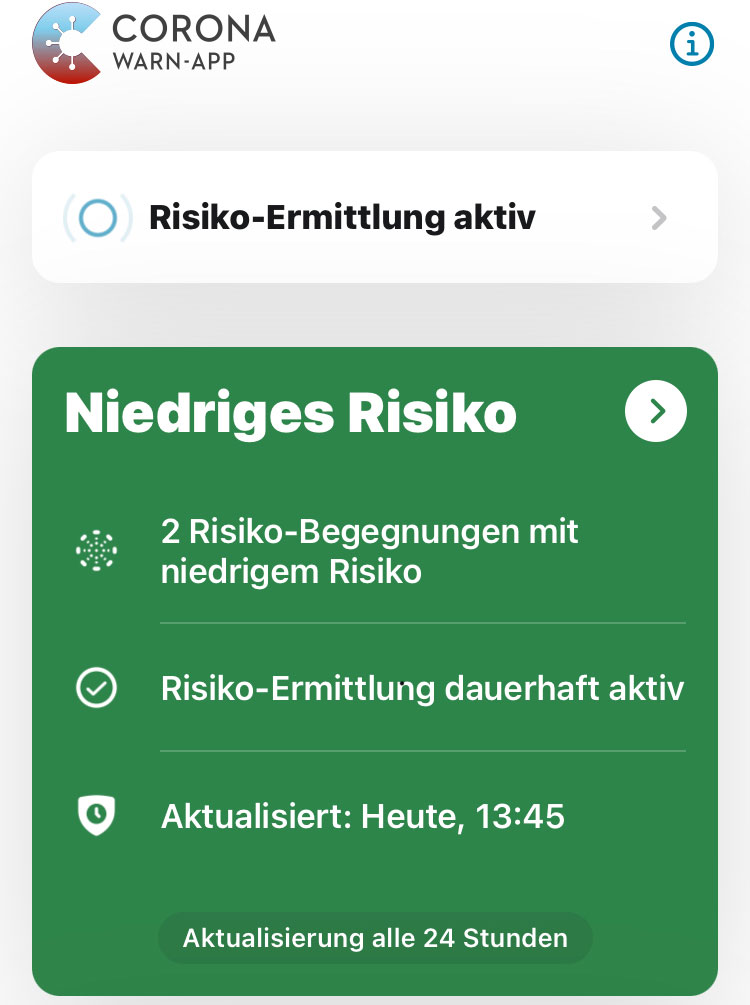 Risikobegegnung Niedriges Risiko