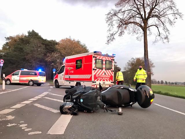 Unfall Krad Schermbecker schwer verletzt