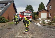 Ölspur Schermbeck Feuerwehr