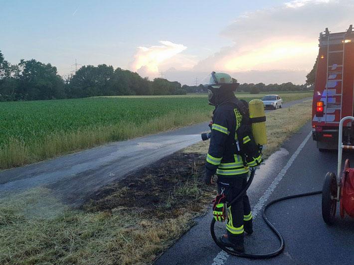 Flächenbrand Weseler Strasse Schermbeck