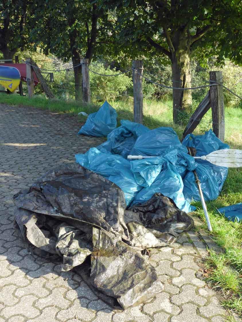 Müllsammelaktion-Kanuten-Lippe-Schermbeck