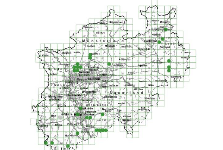 Wölfe NRW Karte